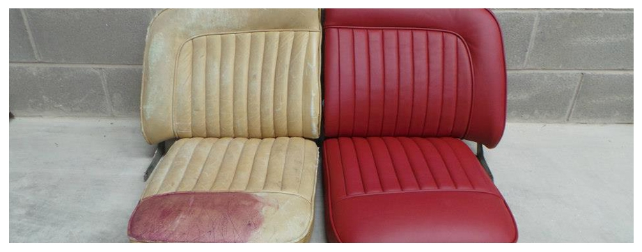 Before and After Jaguar Seats